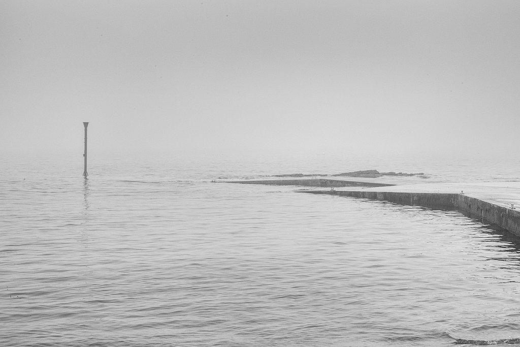 Slipway in the fog